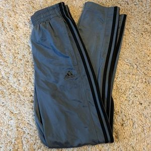 Silver blue adidas track pants / joggers
